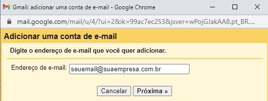 Incluir Endereço Empresarial no Gmail